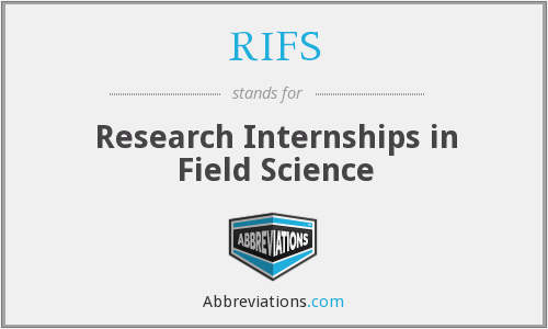 RIFS - Research Internships in Field Science