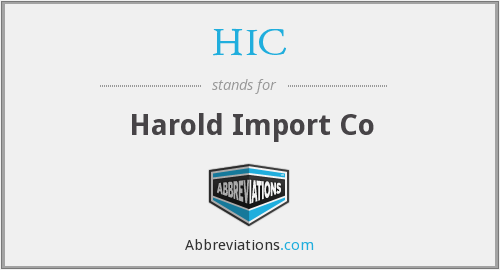 HIC - Harold Import Co
