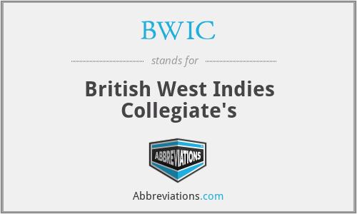 BWIC - British West Indies Collegiate's