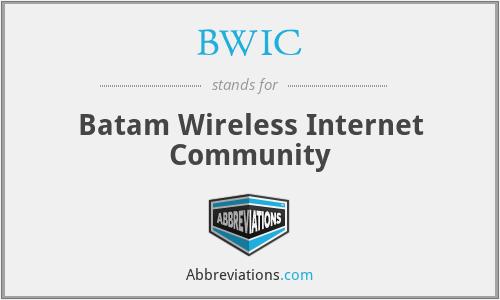 BWIC - Batam Wireless Internet Community