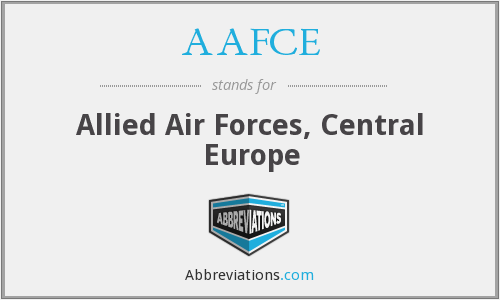 What does AAFCE stand for?