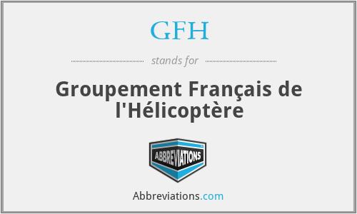 GFH - Groupement Français de l'Hélicoptère