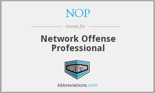 NOP - Network Offense Professional