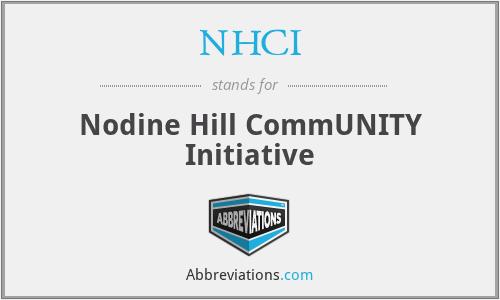 NHCI - Nodine Hill CommUNITY Initiative