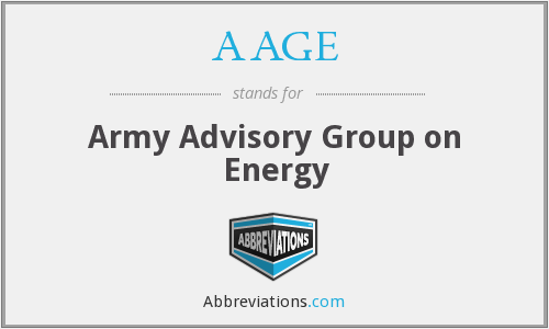 AAGE - Army Advisory Group on Energy
