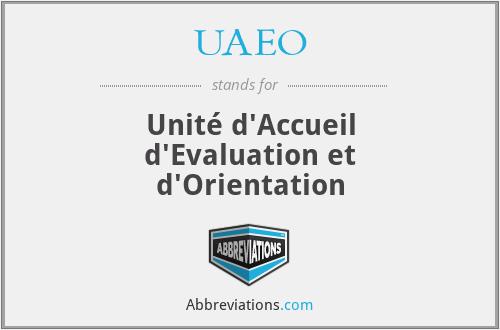 UAEO - Unité d'Accueil d'Evaluation et d'Orientation