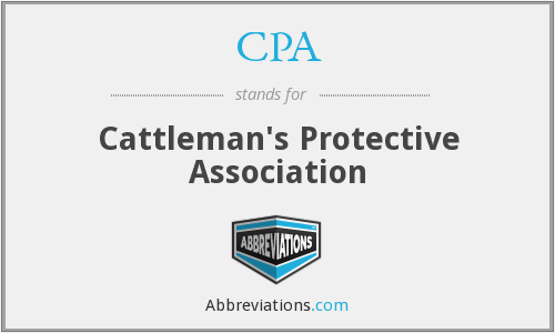 CPA - Cattleman's Protective Association