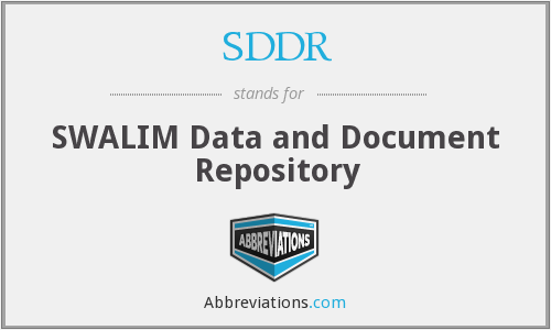 What does SDDR stand for?