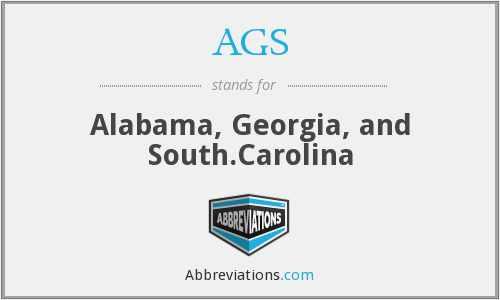 AGS - Alabama, Georgia, and South