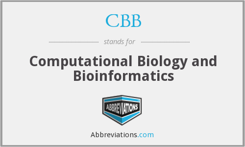 CBB - Computational Biology and Bioinformatics