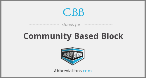 CBB - Community Based Block