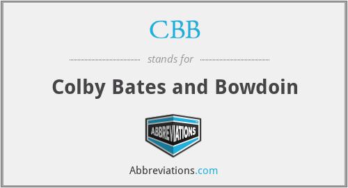CBB - Colby Bates and Bowdoin