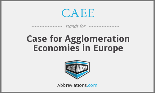 CAEE - Case for Agglomeration Economies in Europe