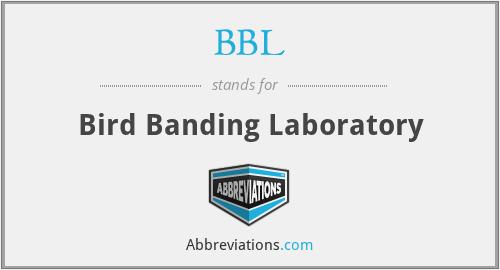 BBL - Bird Banding Laboratory