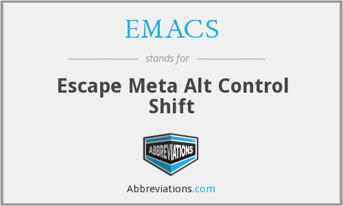 EMACS - Escape Meta Alt Control Shift