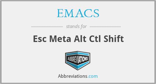 EMACS - Esc Meta Alt Ctl Shift