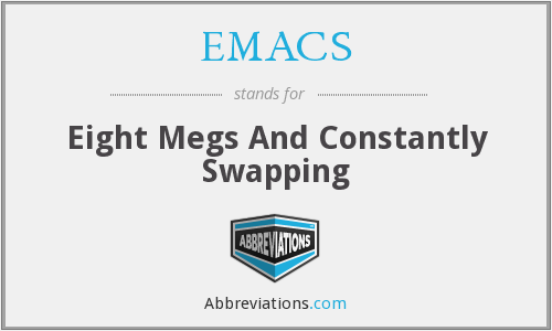 EMACS - Eight Megs And Constantly Swapping