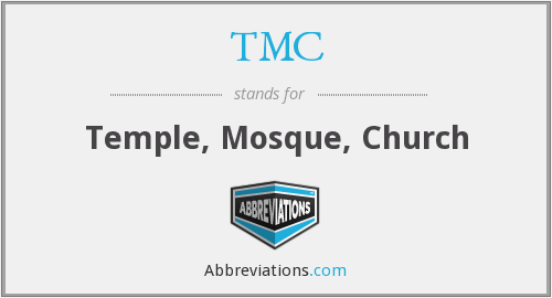 TMC - Temple, Mosque, Church