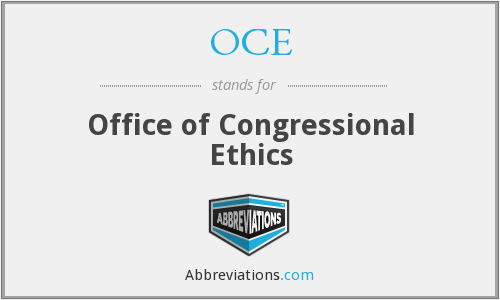 OCE - Office of Congressional Ethics
