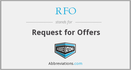 RFO - Request for Offers