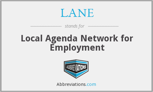 LANE - Local Agenda Network for Employment