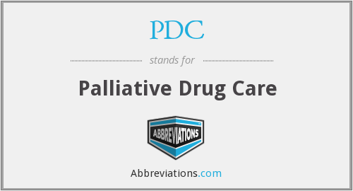 PDC - Palliative Drug Care