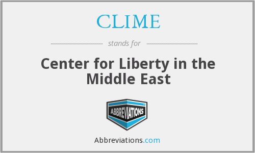 CLIME - Center for Liberty in the Middle East