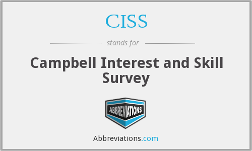 campbell interest and skill survey ciss