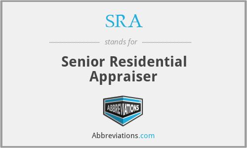 SRA - Senior Residential Appraiser