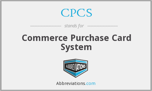 CPCS - Commerce Purchase Card System