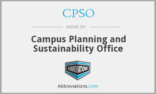 CPSO - Campus Planning and Sustainability Office