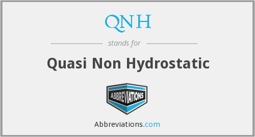 QNH - Quasi Non Hydrostatic