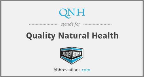 QNH - Quality Natural Health