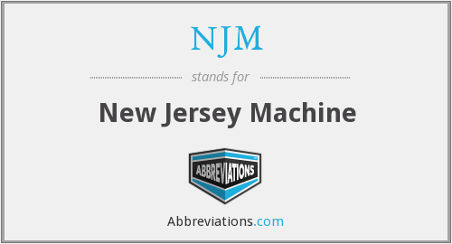 NJM - New Jersey Machine