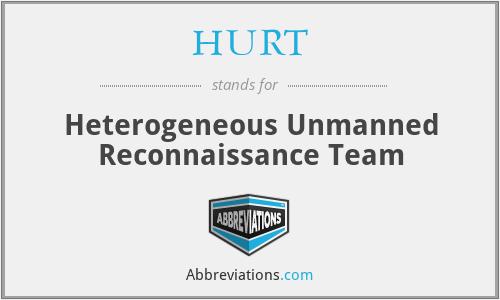 HURT - Heterogeneous Unmanned Reconnaissance Team