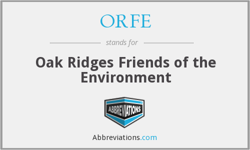 What does ORFE stand for?