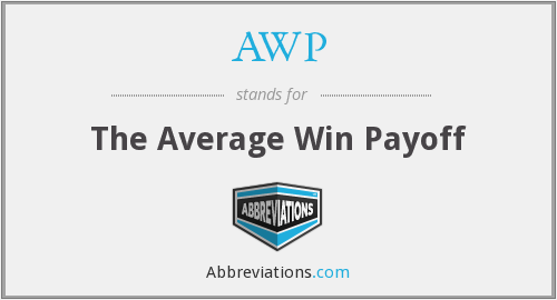 AWP - The Average Win Payoff