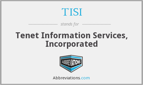 TISI - Tenet Information Services, Incorporated