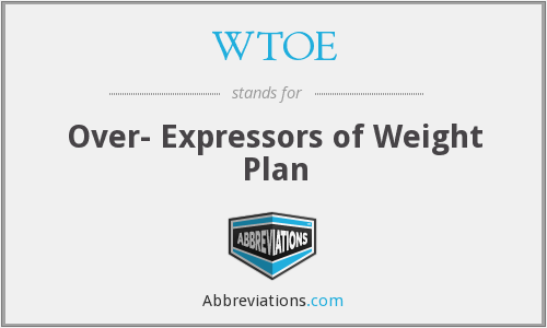 What does WTOE stand for?