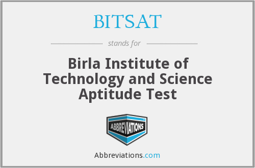 What does BITSAT stand for?