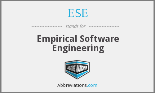 ESE - Empirical Software Engineering