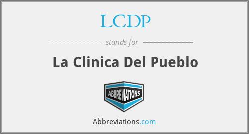 LCDP - La Clinica Del Pueblo