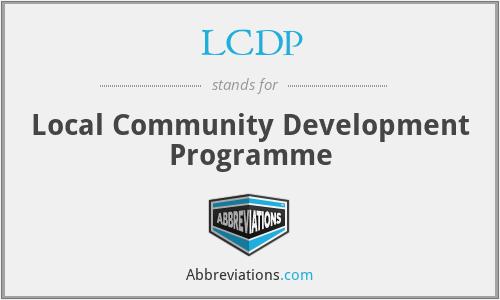 LCDP - Local Community Development Programme