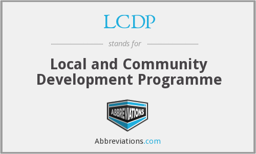 LCDP - Local and Community Development Programme