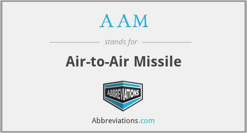 AAM - Air-to-Air Missile