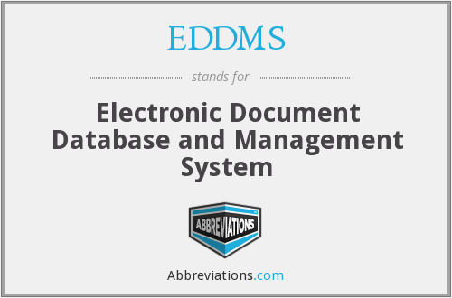 What does EDDMS stand for?
