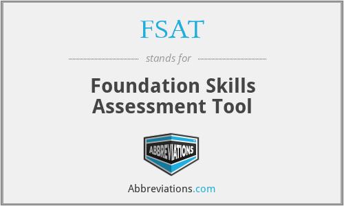 FSAT - Foundation Skills Assessment Tool