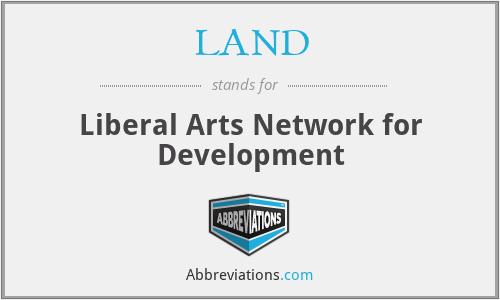 LAND - Liberal Arts Network for Development