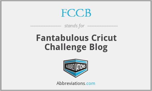 FCCB - Fantabulous Cricut Challenge Blog