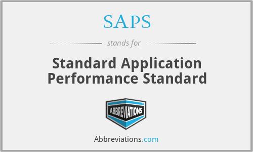SAPS - Standard Application Performance Standard